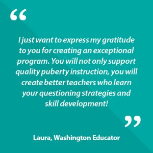 Laura, Washington Educator Quote