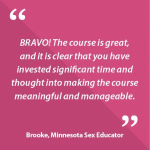 Brooke, Minnesota Sex Educator Quote