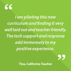 Tina, California Teacher Quote